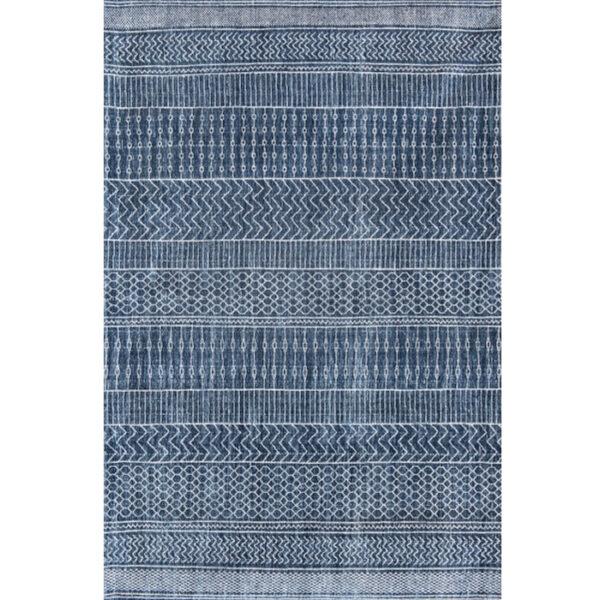 Tappeto 8676 Scarab Blue di Carpet Edition